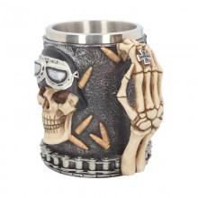 Iron Cross Skull Tankard 14cm