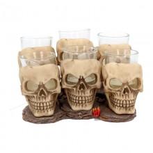 Six Shooter Skulls 10cm (set of 6)
